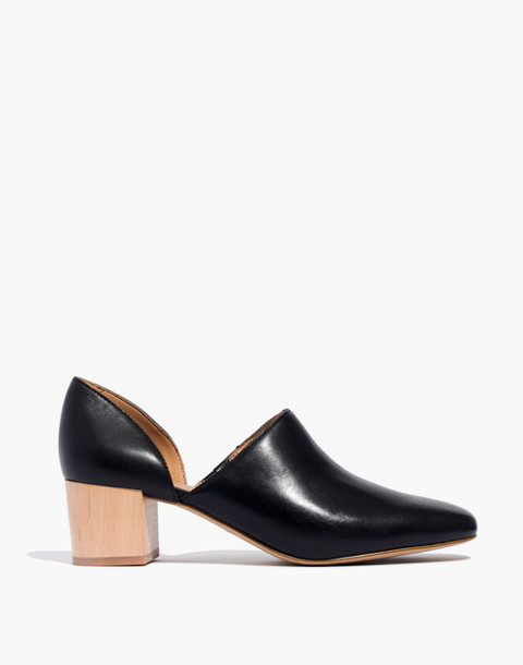 The Kirstie Lowcut Bootie in Leather in true black image 2