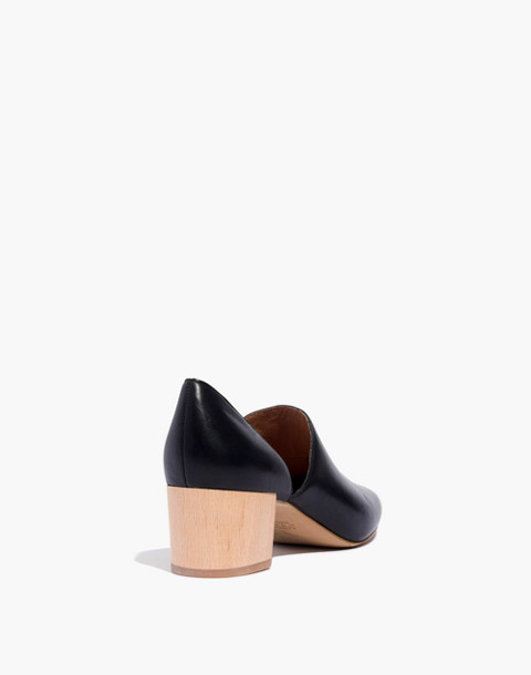 The Kirstie Lowcut Bootie in Leather in true black image 3