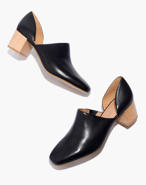 The Kirstie Lowcut Bootie in Leather in true black image 1