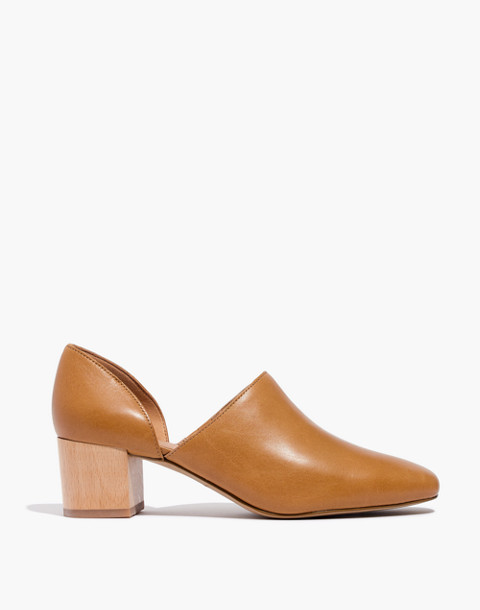The Kirstie Lowcut Bootie in Leather in amber brown image 2