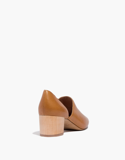 The Kirstie Lowcut Bootie in Leather in amber brown image 3
