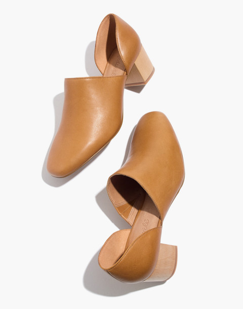 The Kirstie Lowcut Bootie in Leather in amber brown image 1