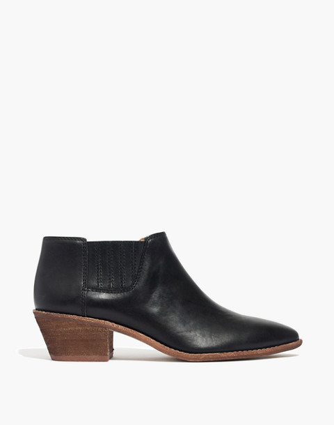 The Myles Ankle Boot in Leather in true black image 2