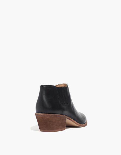 The Myles Ankle Boot in Leather in true black image 3