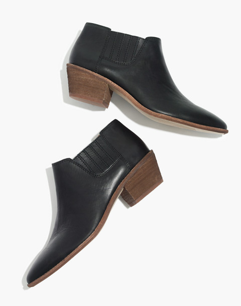 The Myles Ankle Boot in Leather in true black image 1