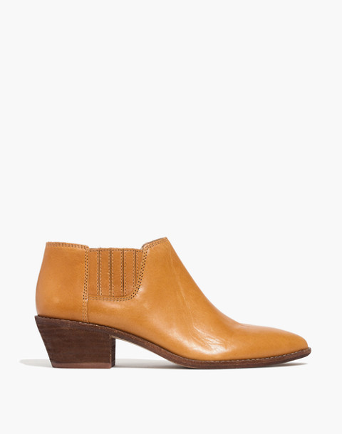 The Myles Ankle Boot in Leather in desert camel image 2