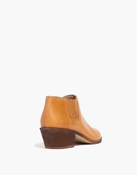 The Myles Ankle Boot in Leather in desert camel image 3