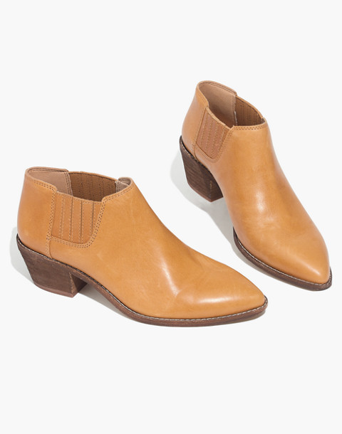 The Myles Ankle Boot in Leather in desert camel image 1