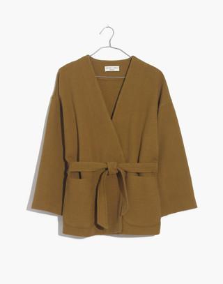 Texture & Thread Kimono Jacket in spiced olive image 4