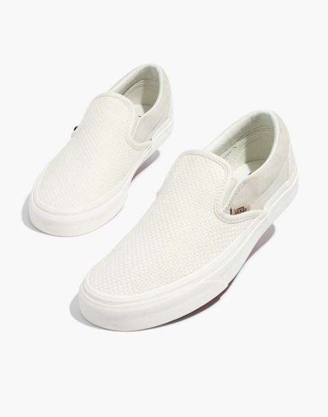 Vans® Unisex Classic Slip On Sneakers In White Suede And Canvas by Madewell