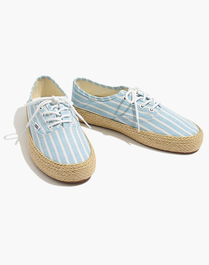 93ddb8ccc03 Vans® Unisex Authentic Lace-Up Espadrille Sneakers in Stripe