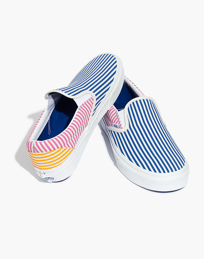 469eec4959 Vans® Unisex Classic Slip-On Sneakers in Mix Stripes