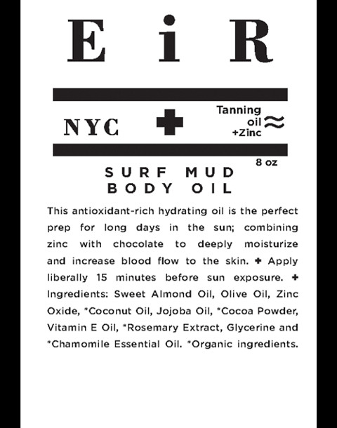 Eir NYC® Surf Mud SPF 15 Body Oil in one color image 2