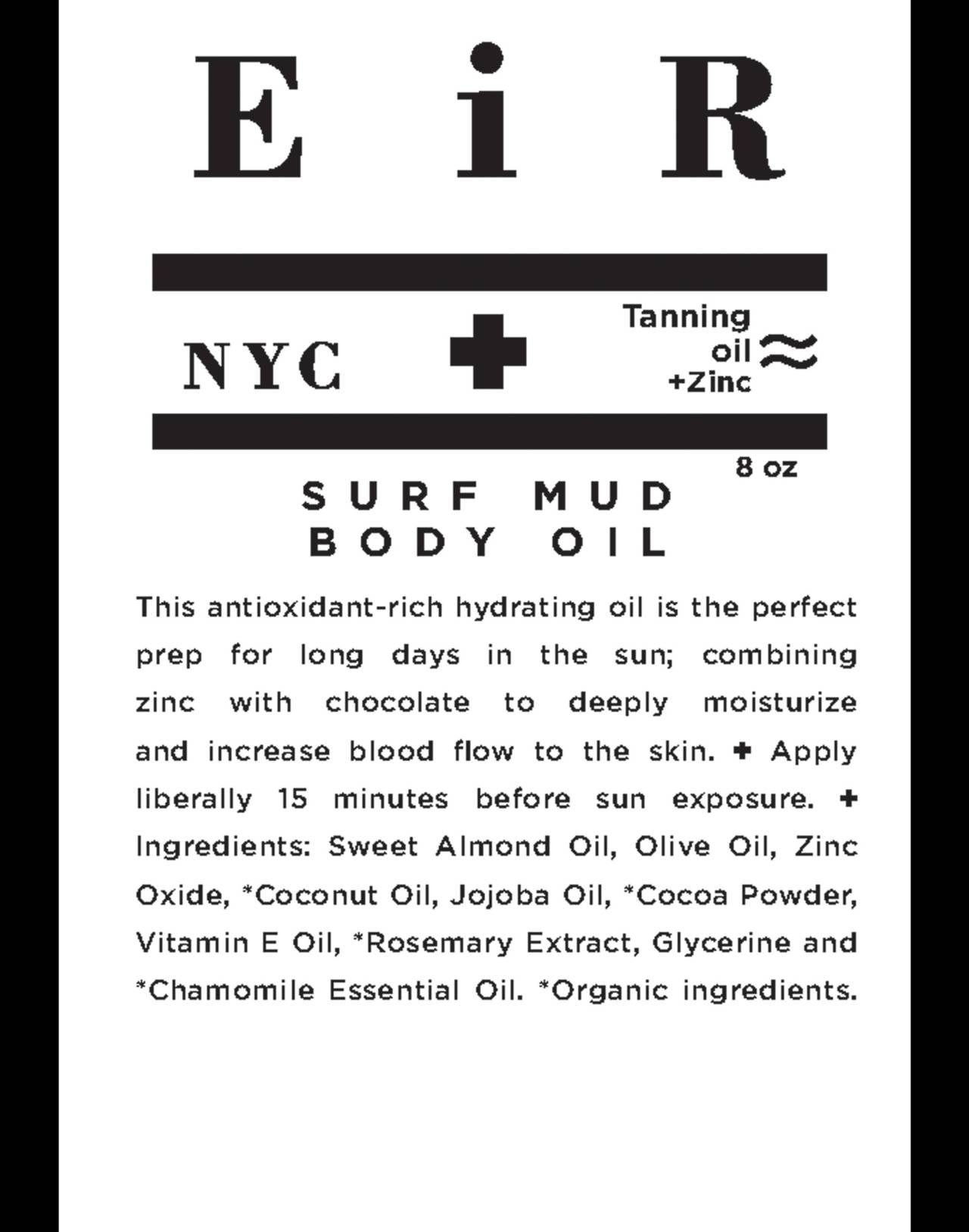 Eir NYC® Surf Mud Body Oil in one color image 2