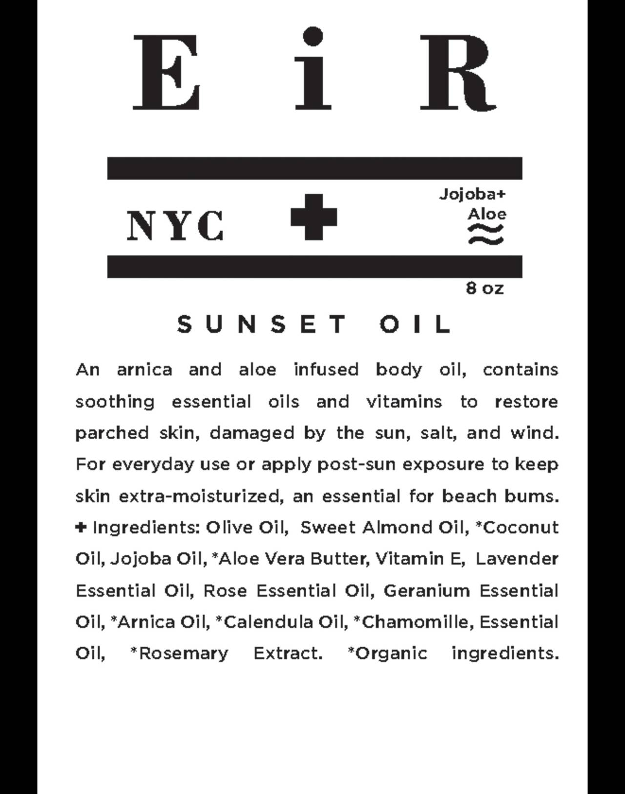 Eir NYC® Sunset Body Oil in one color image 2