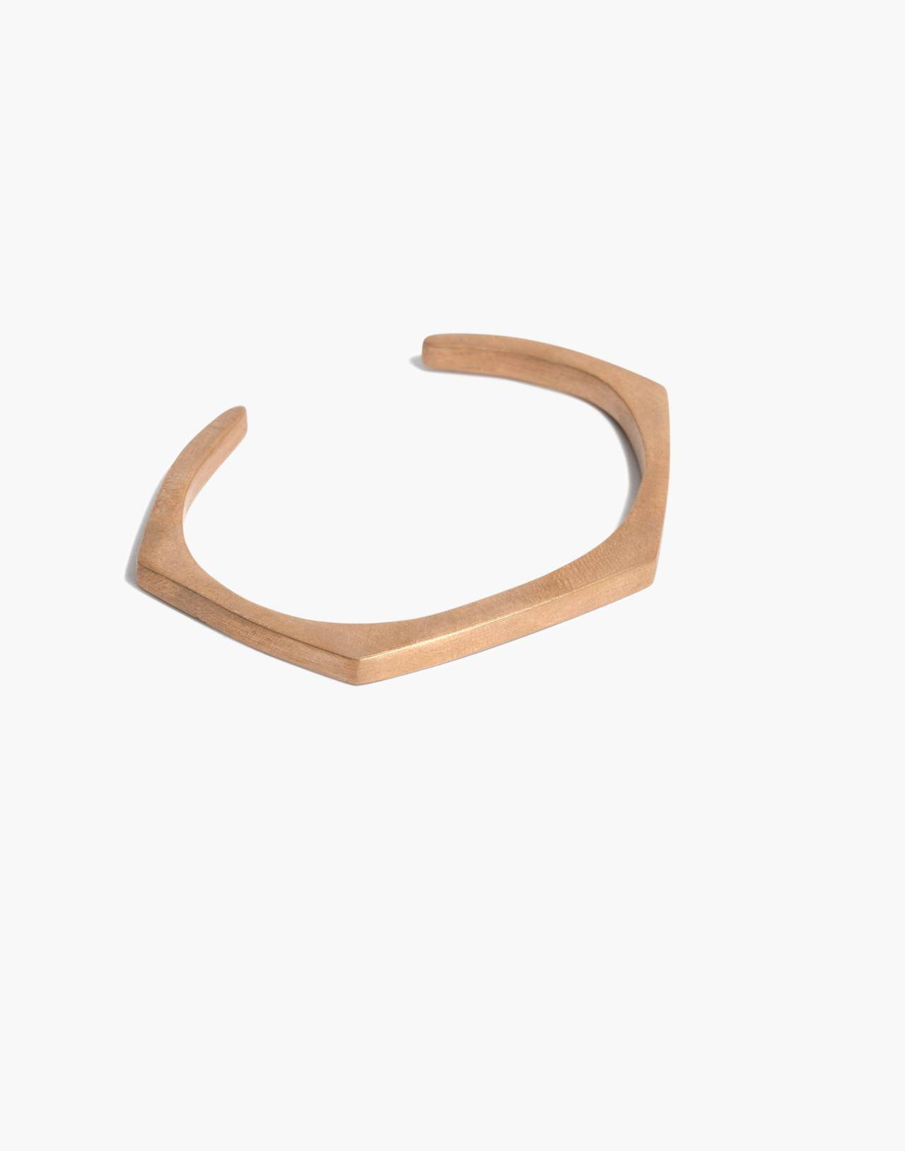 Moulton Angle Cuff Bracelet in red bronze image 1