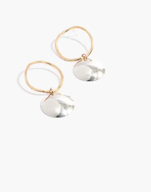 Slantt Petite Pilar Earrings in brass/sterling silver image 1