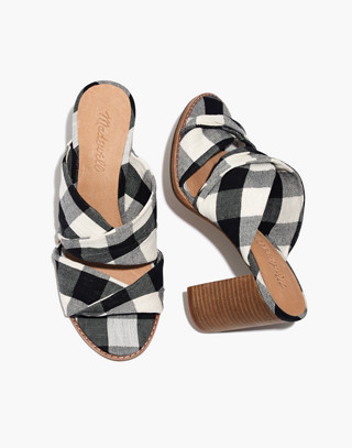 The Alexandria Mule In Gingham Check by Madewell