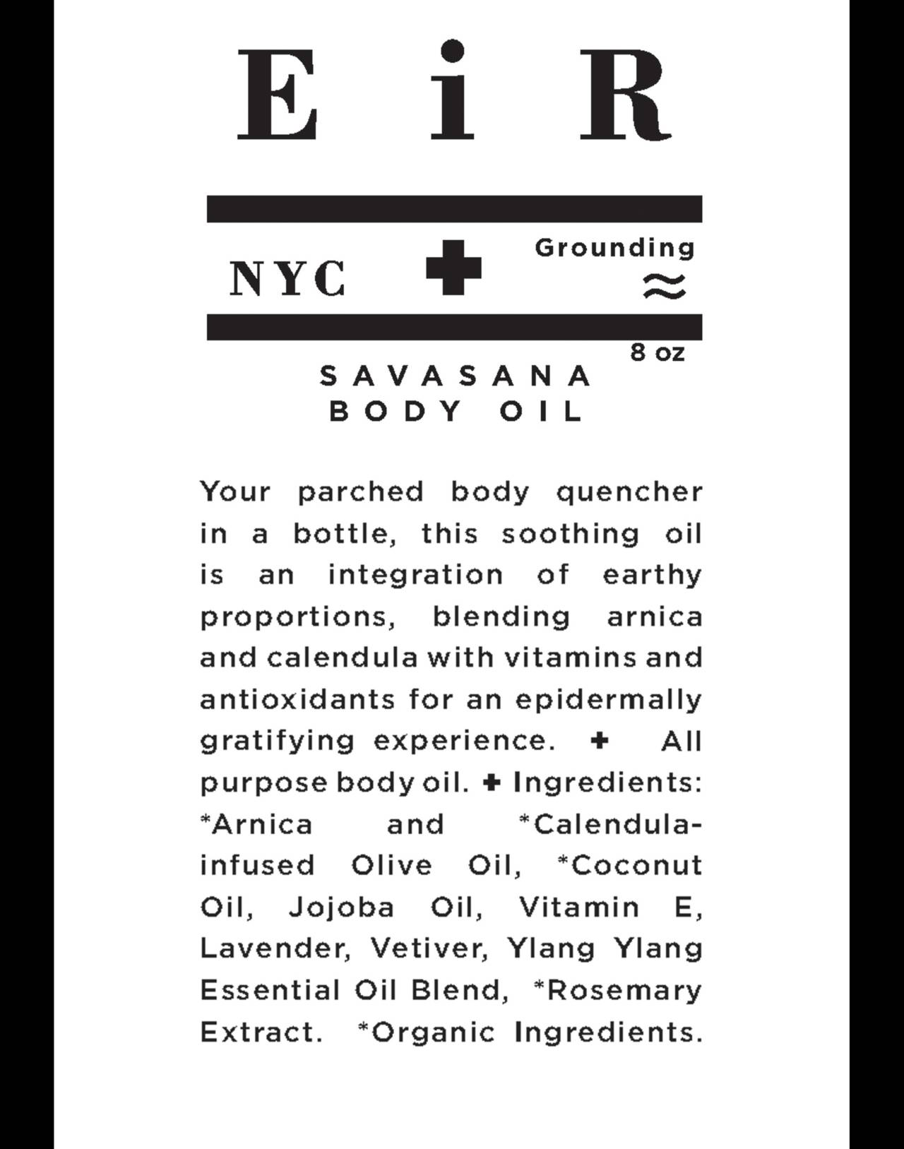 Eir NYC® Savasana Body Oil in one color image 2