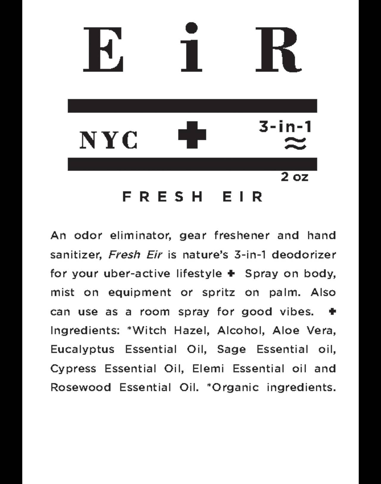 Eir NYC® Fresh Eir Hand Sanitizer and Deodorizing Spray in one color image 2