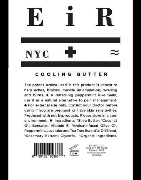 Eir NYC® Cooling Butter + Arnica Balm in one color image 4