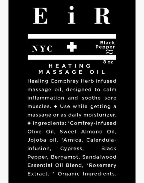 Eir NYC® Heating Massage Oil in one color image 2