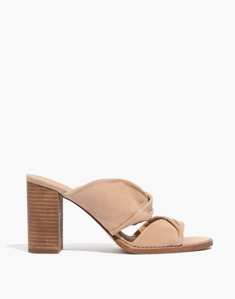 The Alexandria Mule in Suede in sand dune image 2