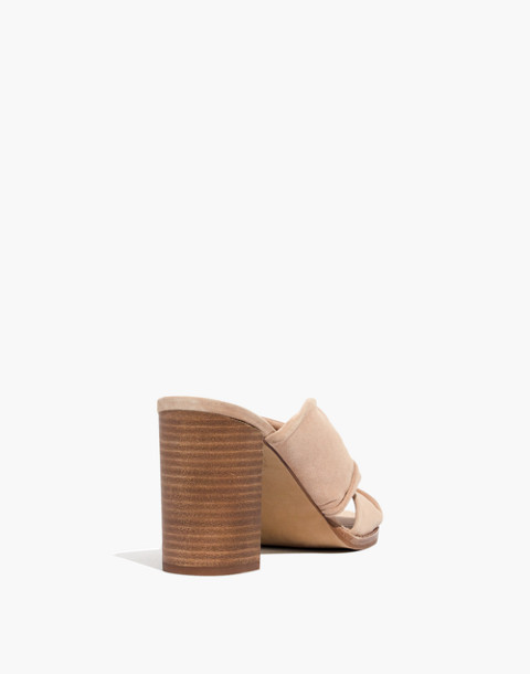 The Alexandria Mule in Suede in sand dune image 3