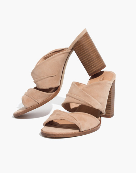 The Alexandria Mule in Suede in sand dune image 1