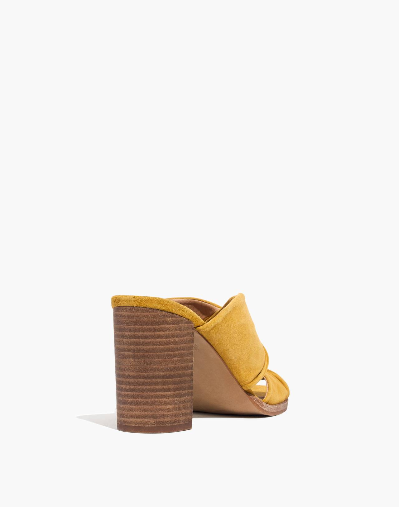 The Alexandria Mule in Suede in cider image 3