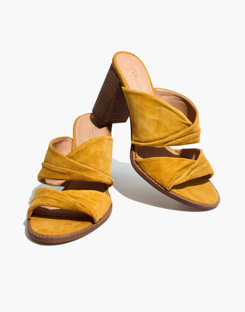 The Alexandria Mule in Suede in cider image 1