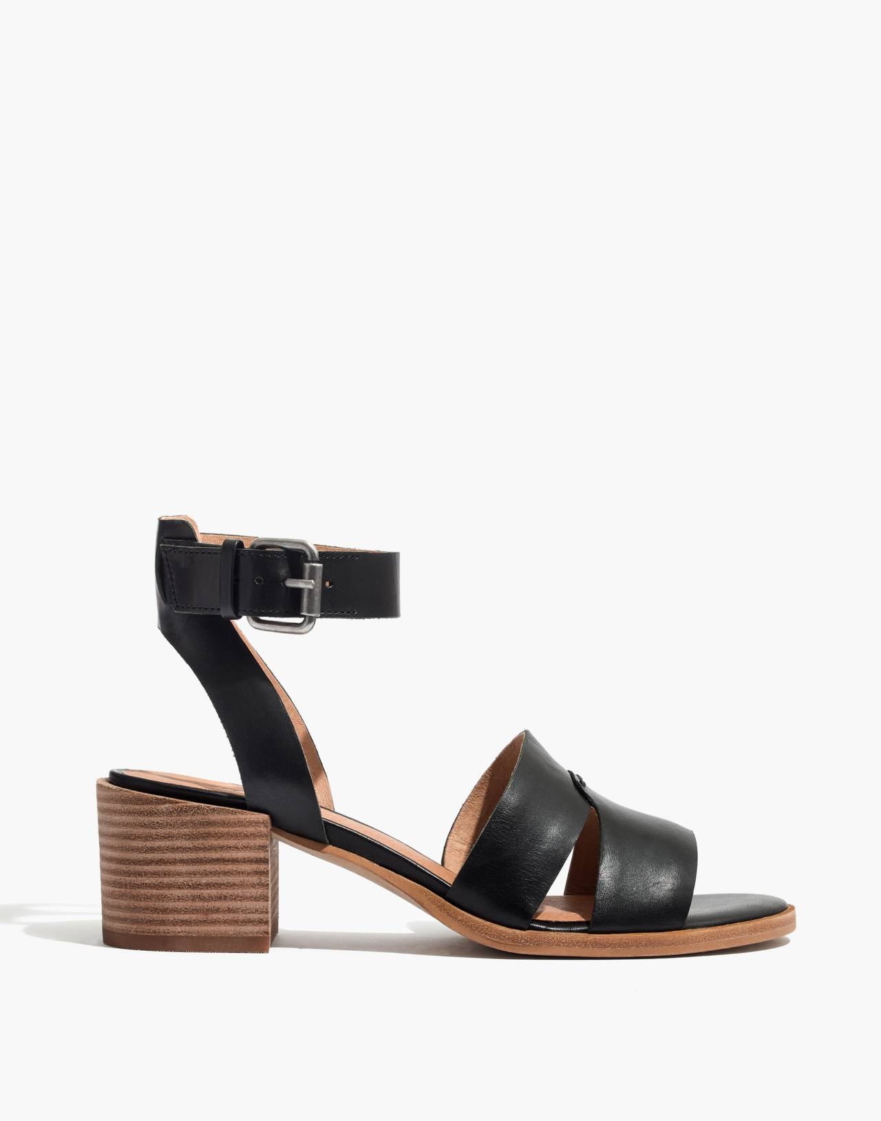 The Kate Sandal in true black image 2