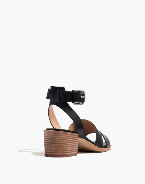 The Kate Sandal in true black image 3
