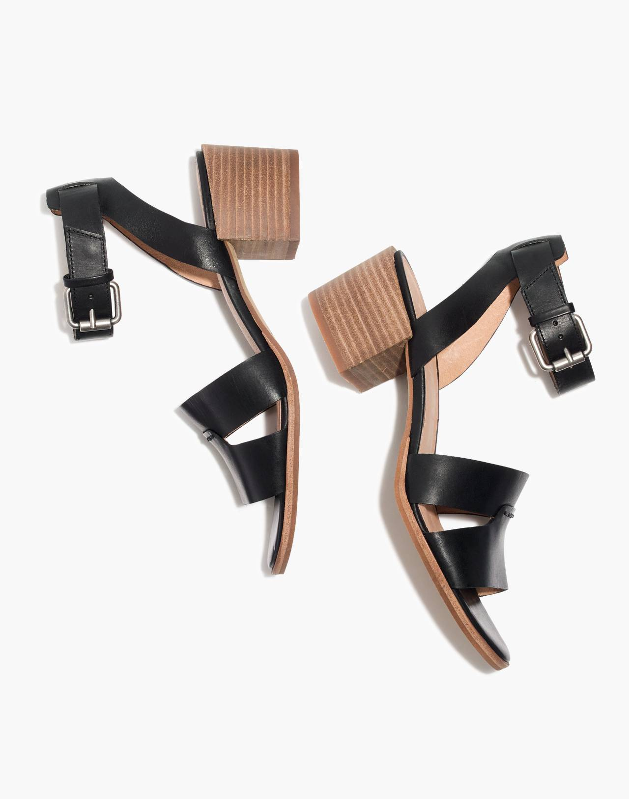 The Kate Sandal in true black image 1