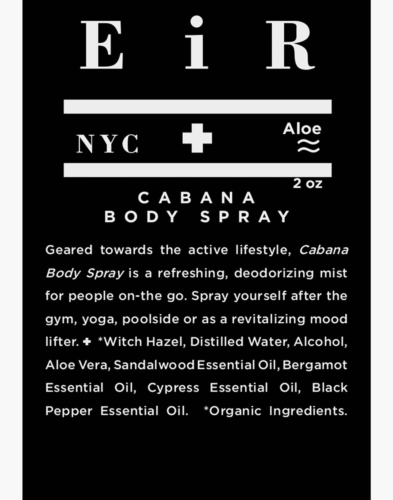 Eir NYC® Cabana Body Spray in one color image 2