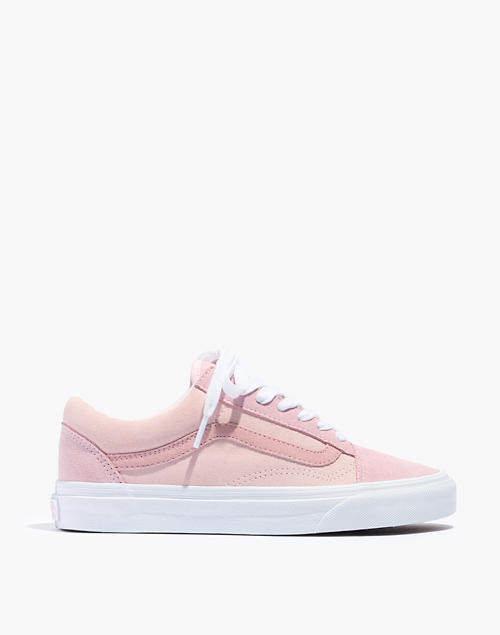 5c7ba660559e Madewell x Vans reg  Unisex Old Skool Lace-Up Sneakers in Pink Colorblock  Canvas in