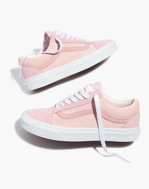 ebf9baa2ba09 Madewell x Vans reg  Unisex Old Skool Lace-Up Sneakers in Pink Colorblock  Canvas in