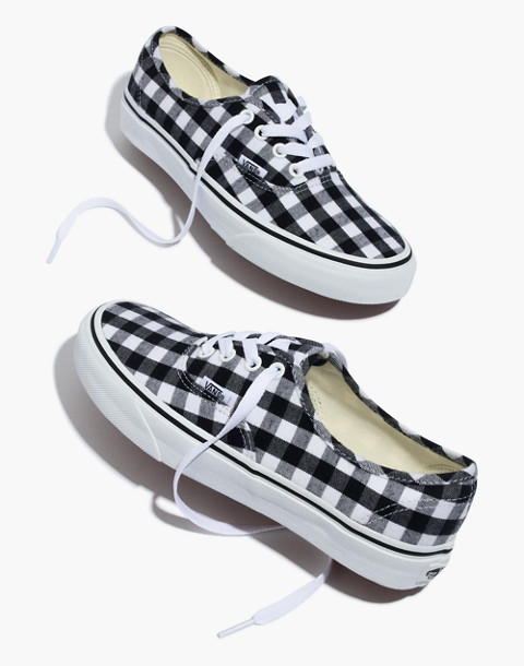 Vans® Unisex Authentic Lace-Up Sneakers in Gingham Check in gingham image 1