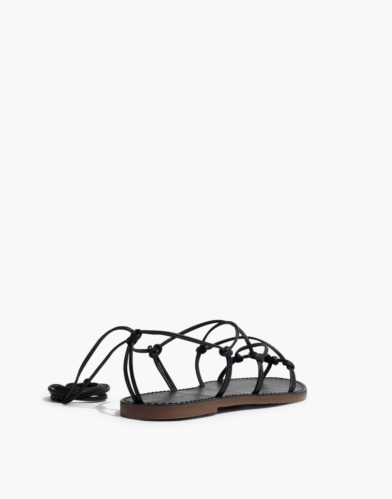 The Boardwalk Lace-Up Sandal in true black image 4
