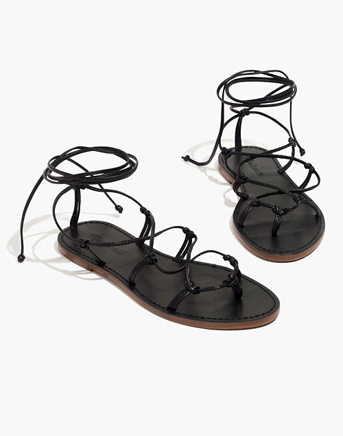 427c712c089 The Boardwalk Lace-Up Sandal in true black image 1