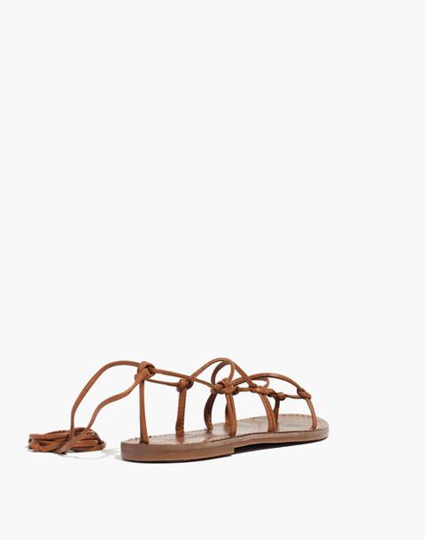 The Boardwalk Lace-Up Sandal in english saddle image 3