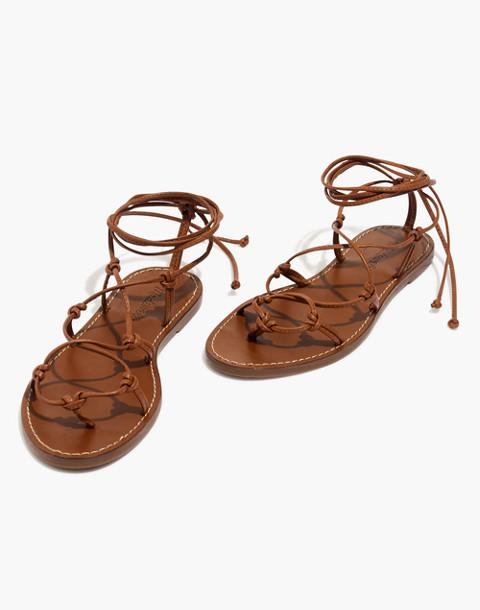 The Boardwalk Lace-Up Sandal in english saddle image 1