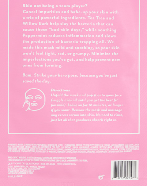 Patchology® Moodmask™ The Good Fight Sheet Mask in the good fight image 2