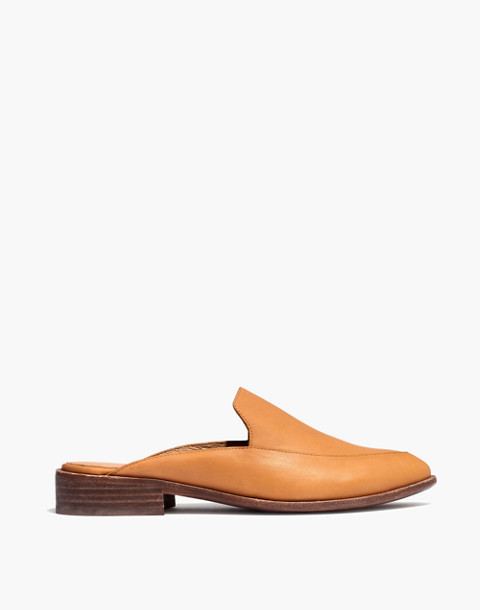 The Frances Loafer Mule in Leather in amber brown image 3
