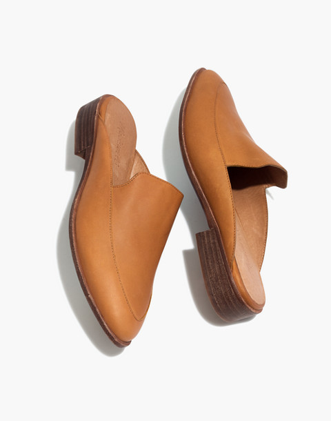 The Frances Loafer Mule in Leather in amber brown image 1
