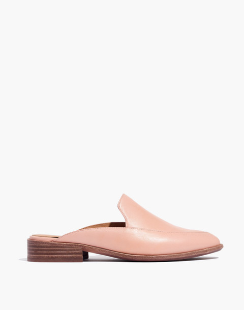 The Frances Loafer Mule in Leather in pink oyster image 2