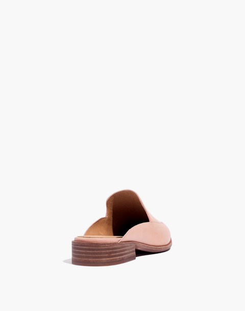 The Frances Loafer Mule in Leather in pink oyster image 3