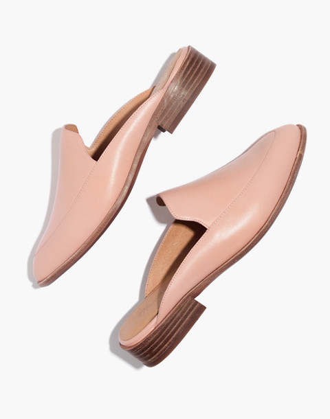 The Frances Loafer Mule in Leather in pink oyster image 1