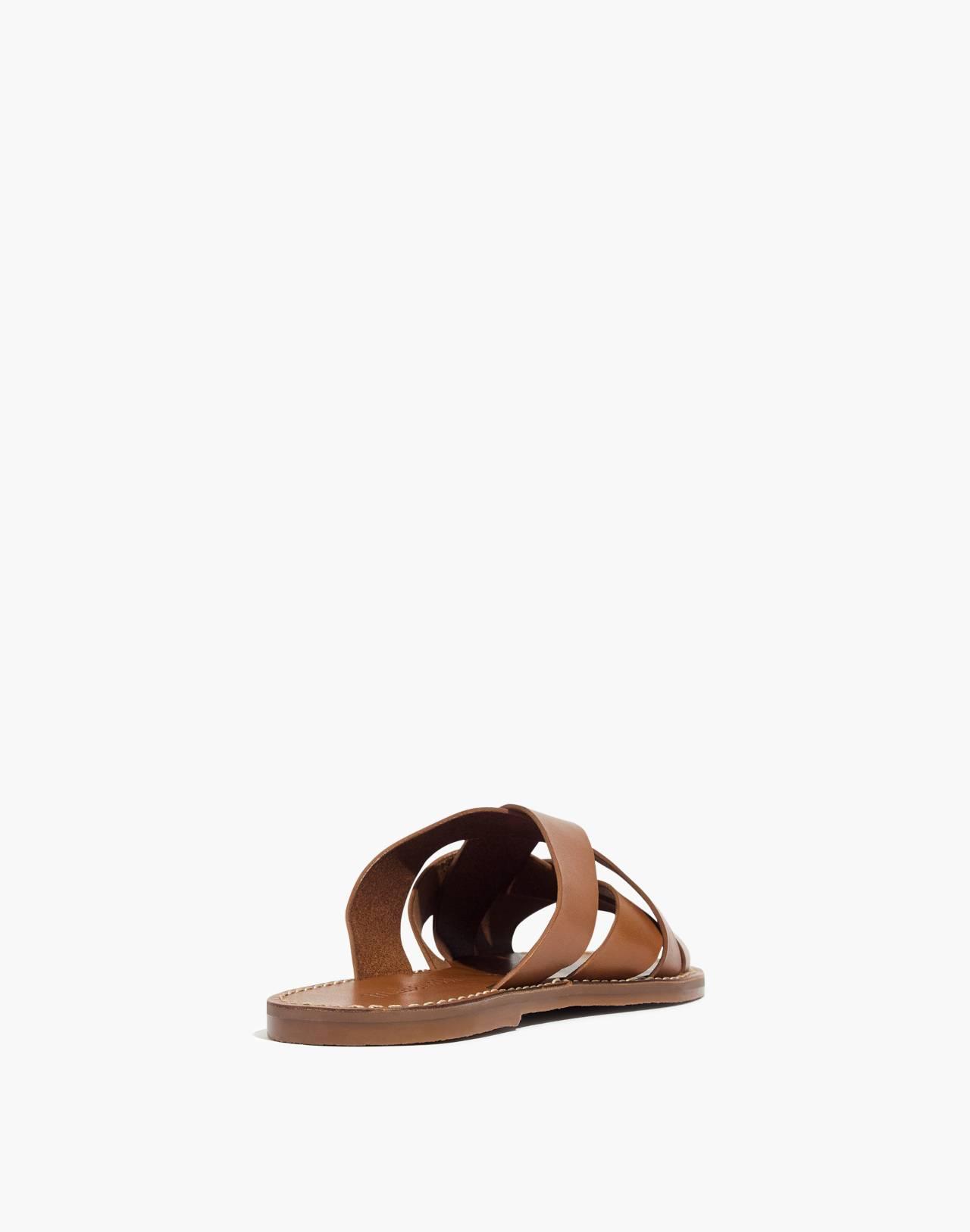 The Boardwalk Woven Slide Sandal in english saddle image 4