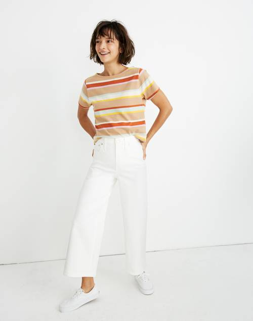 Wide Leg Crop Jeans In Tile White by Madewell